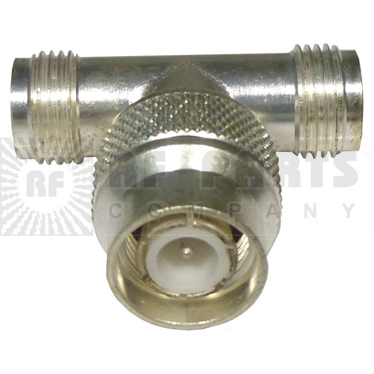 000-79700 TNC IN Series Adapter, Male to Double female TEE, Amphenol