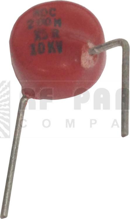 0002-10KVHDB  High Voltage Capacitor,  .0002uf / 10KV, Radial Lead