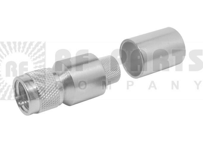 EZ400FM-75  Type- F Male Crimp Connector, Knurled Nut, LMR400-75, Times