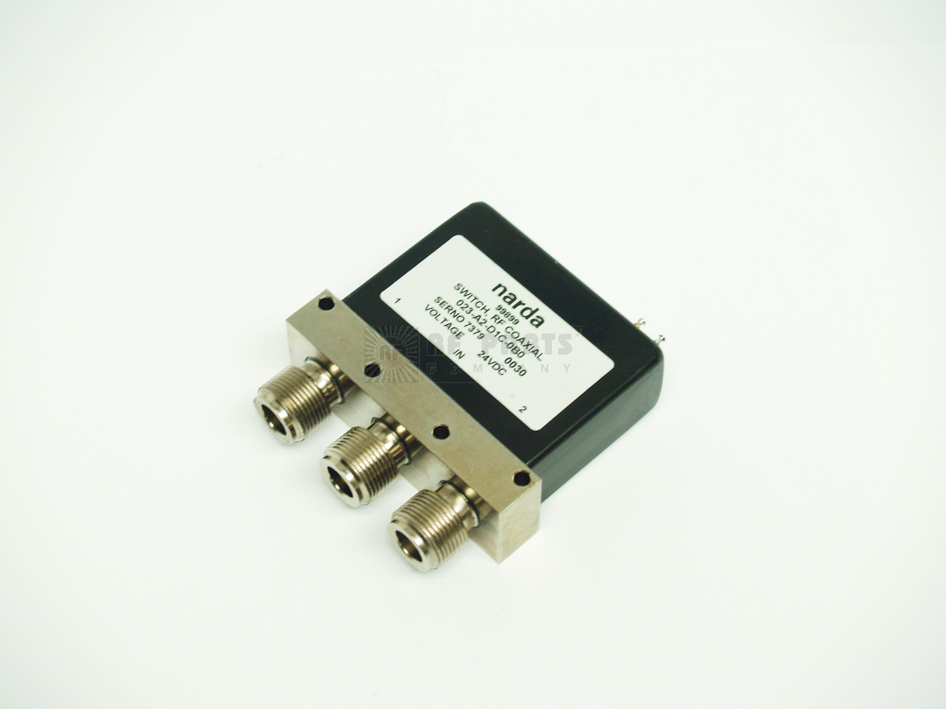 023-A2-D1C-0B0 Coaxial relay, spdt 24vdc