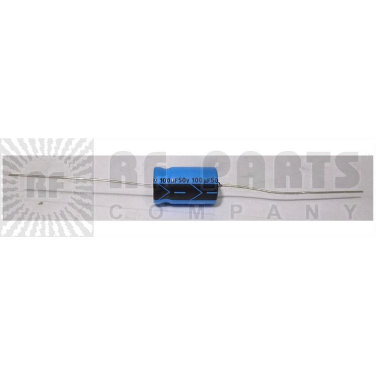100-50 Capacitor, elec. 100uf 50v