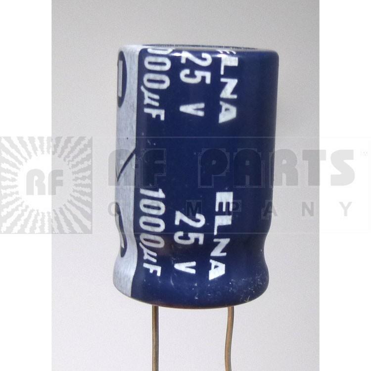 1000-25R  Radial Lead Capacitor, 1000UF- 25V mfg: Elna
