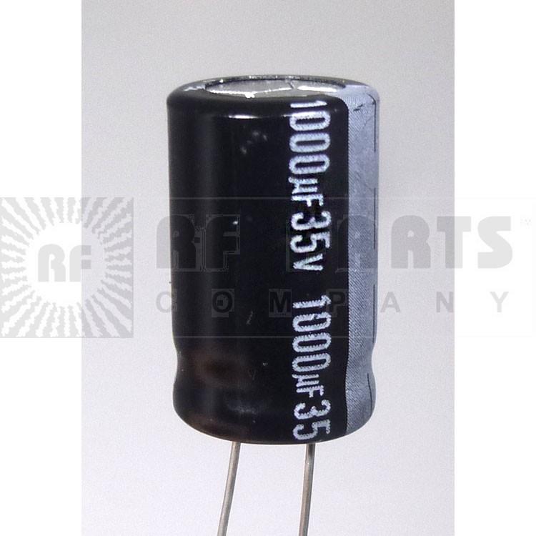 RAD1000-35 Capacitor, elec. 1000uf 35v, Radial mallory