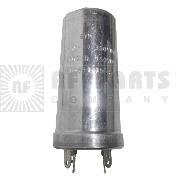 11607531   Capacitor, Twist Lock, 100-100 uf 350 vdc, STM