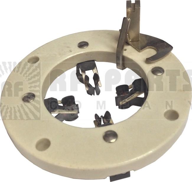 122-234 Socket, special, 4 pin, Flat ceramic .Mfgr: johnson