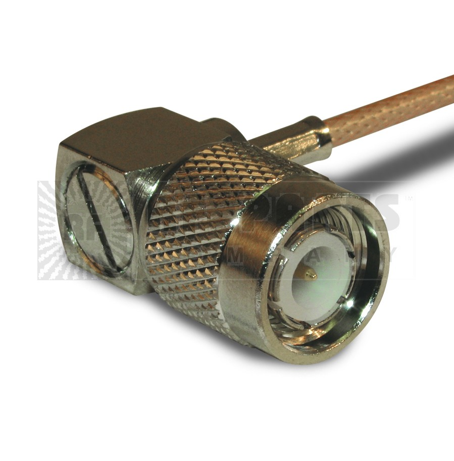 122148 TNC Male Crimp Connector, Right Angle, Knurled Nut,  APL/CON