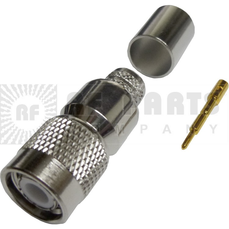 122398 - TNC Male Crimp Connector,  straight, Knurled Nut, APL/CON