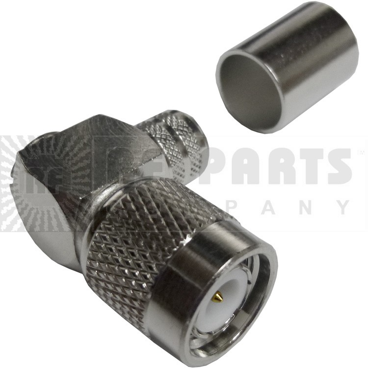 122416 - TNC Male Right Angle Crimp Connector, APL/CON