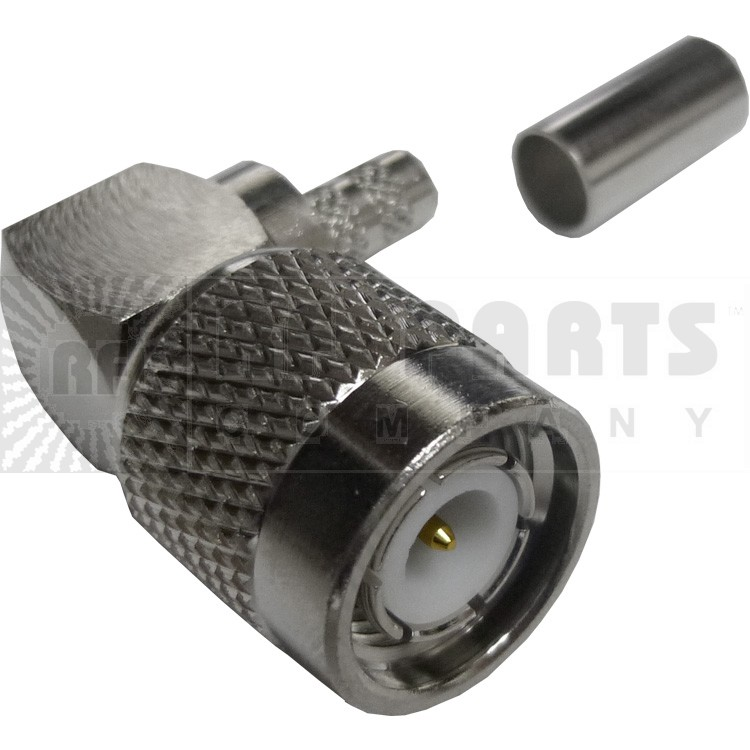 31-6003-RFX - TNC Male Right Angle Crimp Connector, APL/RF
