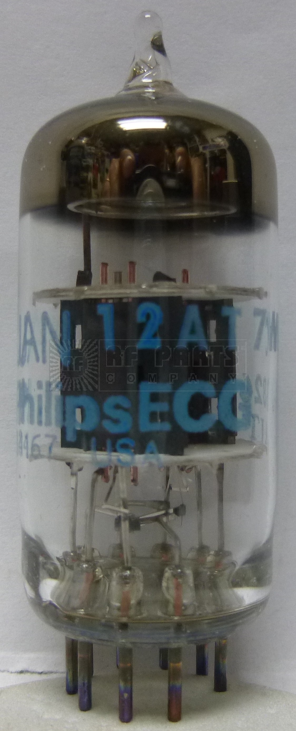 12AT7WC-ECG  Tube, High Frequency Twin Triode, JAN/ECG Philips  5960-00-179-4446