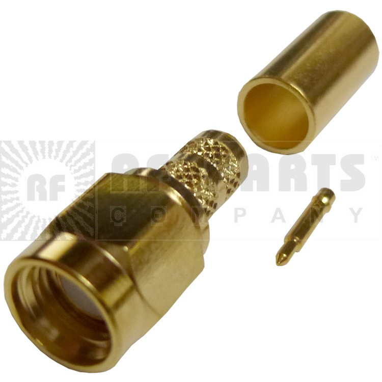 132195 - SMA Male Crimp Connector, Straight, A,P/CON