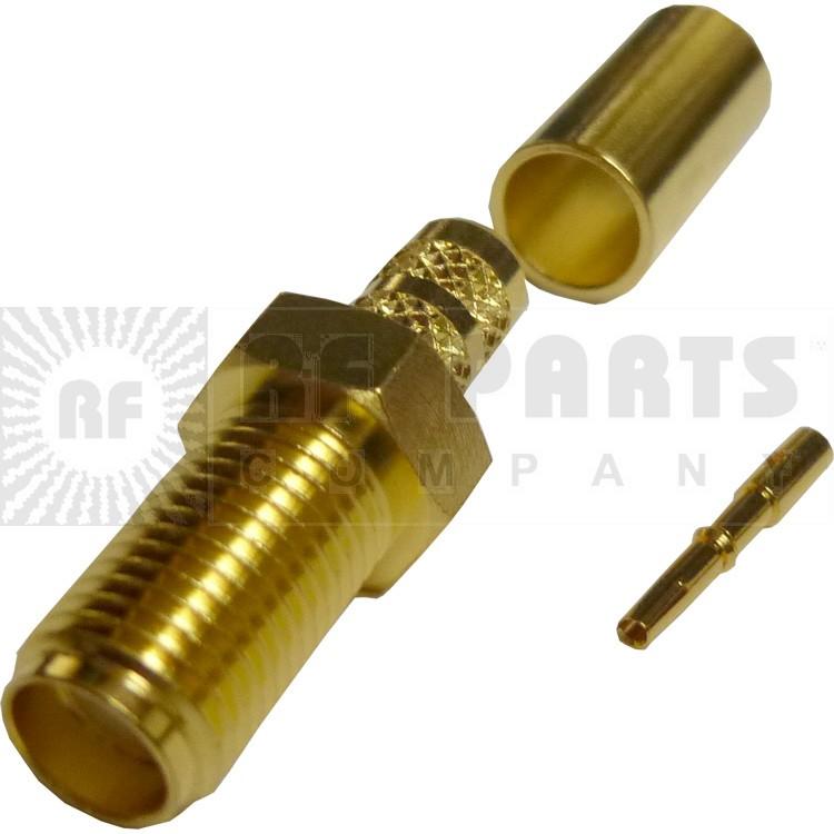 132116 - SMA Female Crimp Connector,Straight, APL/CON