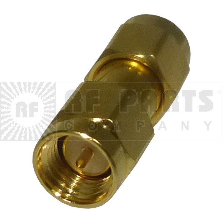 132168 SMA IN Series Adapter, Male to Male, Barrel, APL/CON