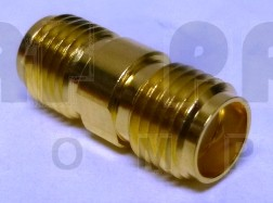 132169 SMA IN Series Adapter, Female to Female Adapter, Barrel, APL/CON