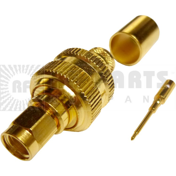 132298 - SMA Male Crimp Connector Straight, APL/CON