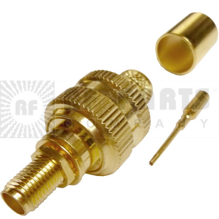132333 - SMA Female Bulkhead Crimp Connector, APL/CON