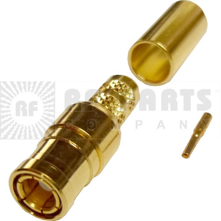 142255 - SMB Male Crimp Connector, Straight, AMP/CON