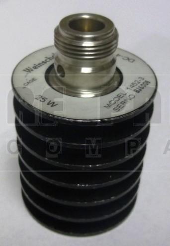 1452-3 Dummy Load, Type-N Female, 25 Watt, Weinschel (Clean Used)