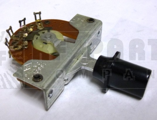 1453  Toggle Switch, 2 pol, 3 position, Spring Return, Centralab