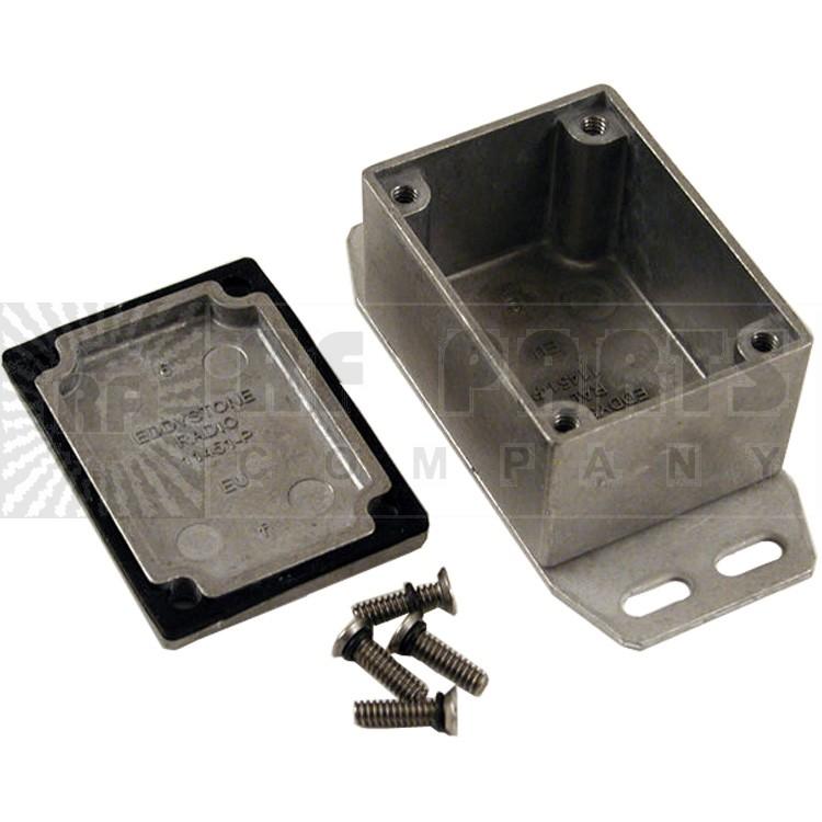 BOX1590WHF - Diecast box sealed w/ flange, 2.07 by 1.5 by 1.1