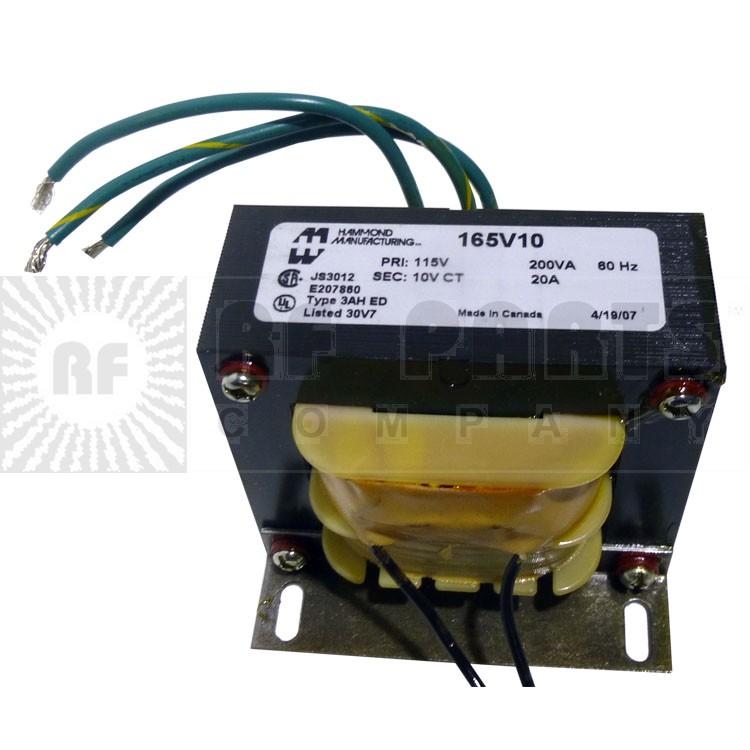 165V10 Transformer 10.0 vct 20 amps