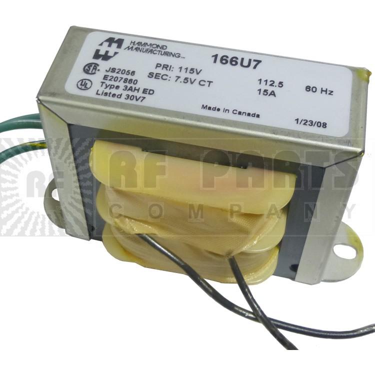 166U7 Transformer, 7.5vct @ 15a