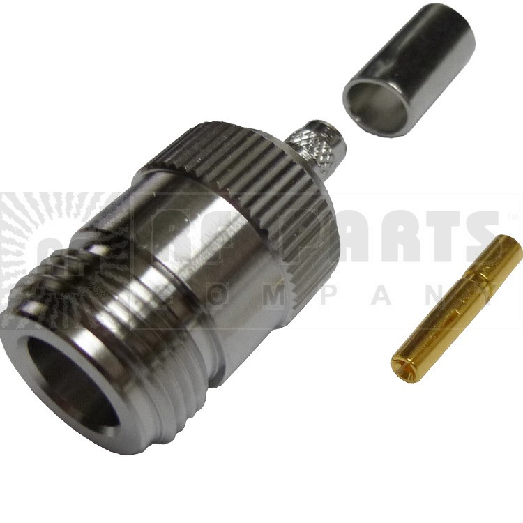 172148 - Type N Female Crimp Connector,Straight, APL/CON