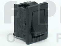 1801 Rocker Switch, SPST, 6a 250vac