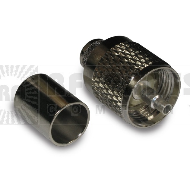 182311 - UHF Male Crimp Connector, Cable Types: RG214,APL/CON