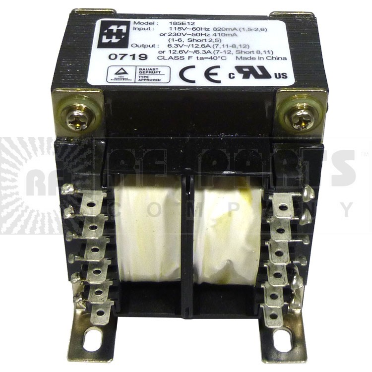 185E12 Transformer 12.6vct at 6.3a or 6.3vac at 12.6 amps