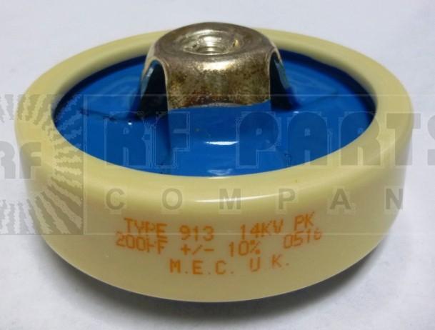 200-14 Capacitor, Doorknob, 200pf 14kv, MEC