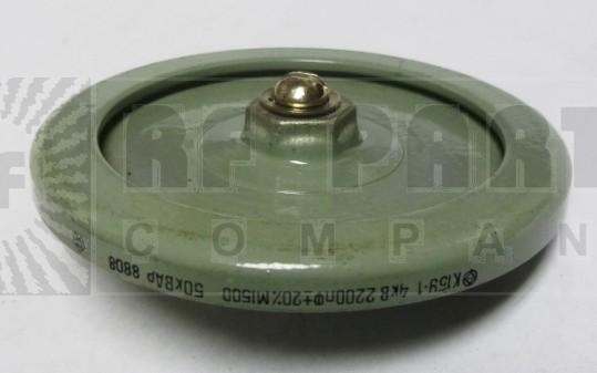 2200-4 Doorknob Capacitor, 2200pf 4KV, Radio Komponent
