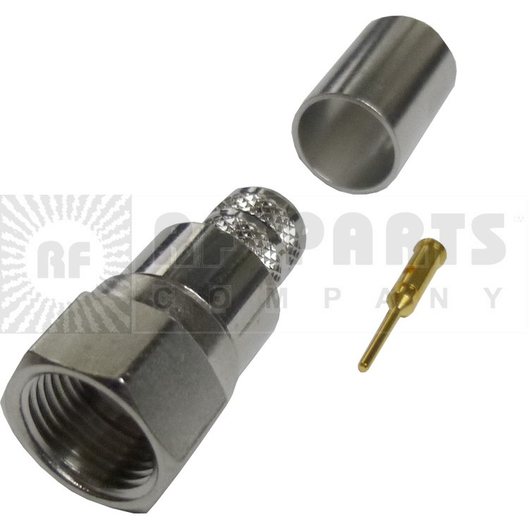 222123 - F Male Crimp Connector, RG6, APL/CON