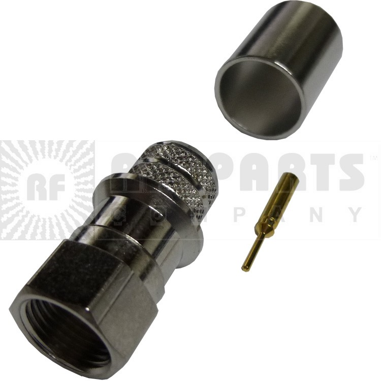 222175 - F Male Crimp Connector, RG11,  Amphenol/Connex