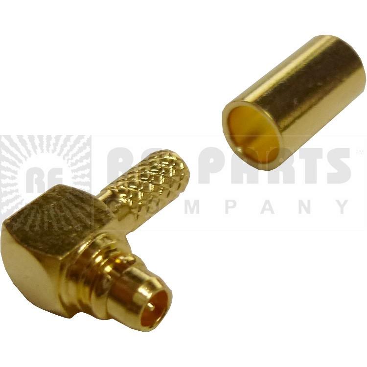 262103 - MMCX Male Crimp Connector, Right Angle, APL/CON