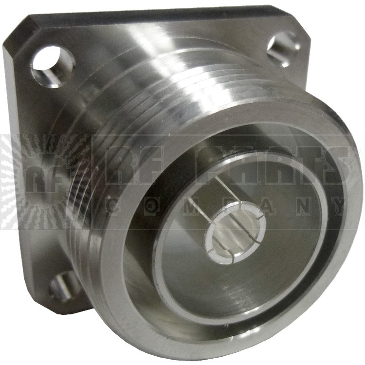 272130 - 7/16 DIN Female Chasis Connector, 4 Hole Flange, Solder Cup