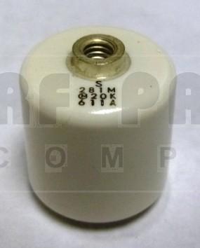 281M Doorknob Capacitor, Murata, 280pf 20kv