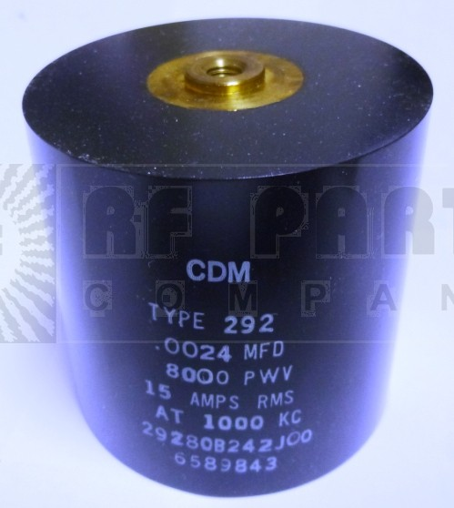 29280B242J00 Transmitting Mica Capacitor, 2400PF, CDE