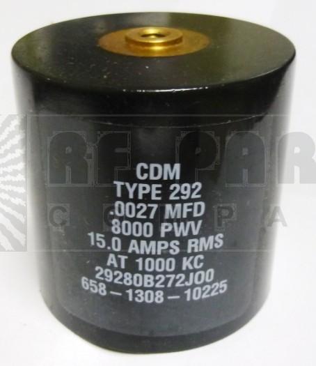 29280B272J00 Transmitting Mica Capacitor, 2700PF, CDE