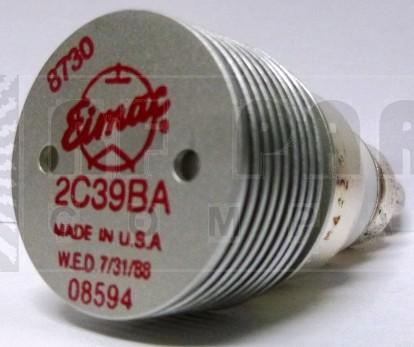 2C39BA-EIMAC Transmitting Tube, Microwave Triode, 2C39BA / 7289 / 3CX100A5, Eimac (NOS)