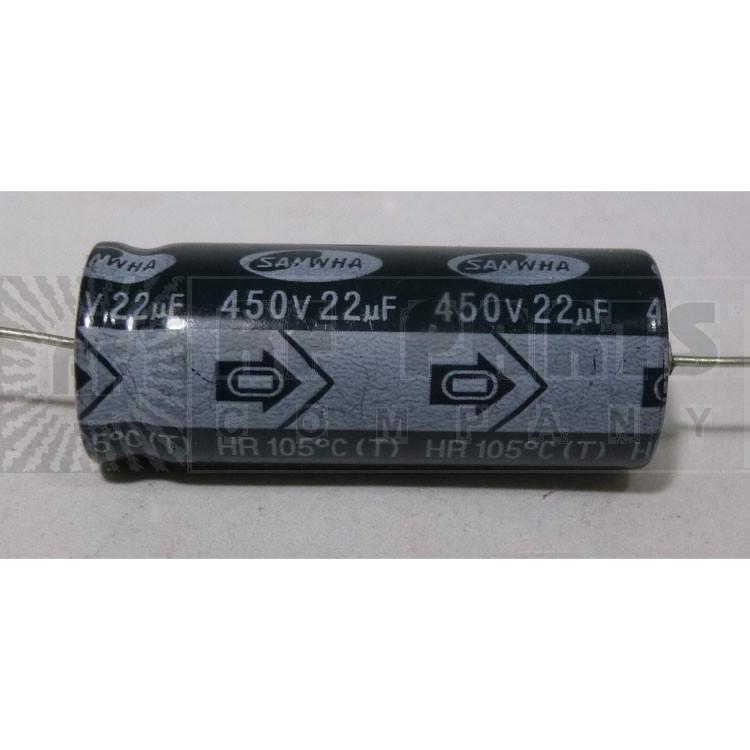 2HR2WAB226T Capacitor, 22uf 450v, Samwha