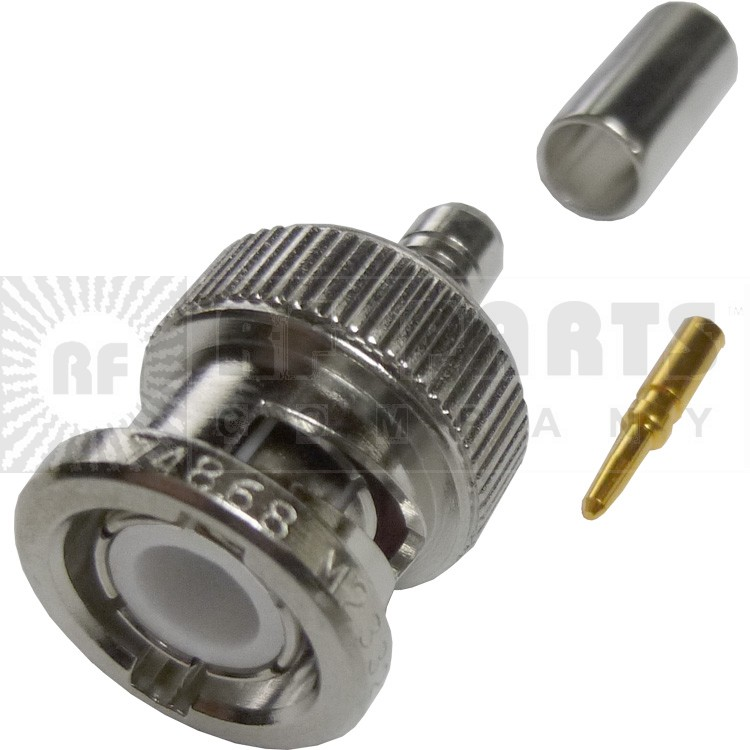 000-36775 - BNC Male Crimp Connector, Amphenol