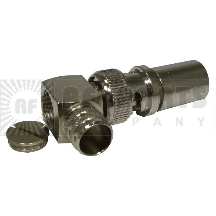 31-6004-RFX BNC Male Crimp Connector, Right Angle, APL/RFI