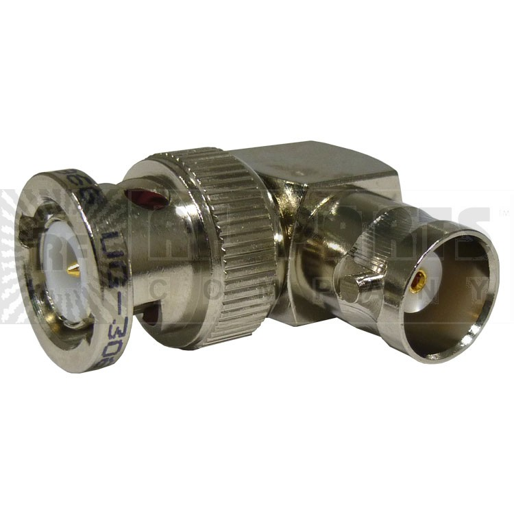 31-9 BNC In-Series Adapter, Right Angle Male to Female, (Industrial Grade), UG306/U, APL/RF