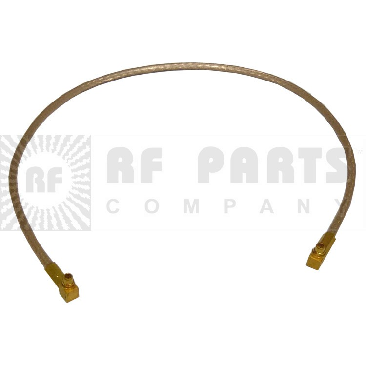 "316RMMRMM-10 Pre-Made CABLE ASSEMBLY, 10"" RG316 W/R.A. MMCX(M)--R.A. MMCX(M)"