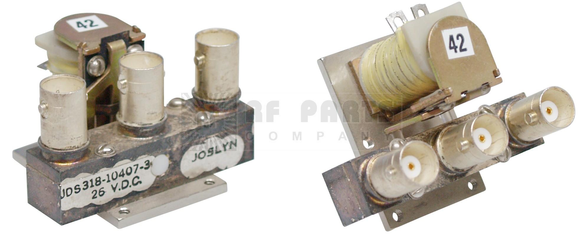318-010407-3 Coaxial relay,26vdc spdt joslyn