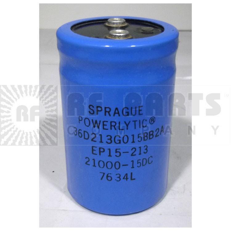 36D213G015 Capacitor, sprague, 21000uf 15 wvdc, Sprague