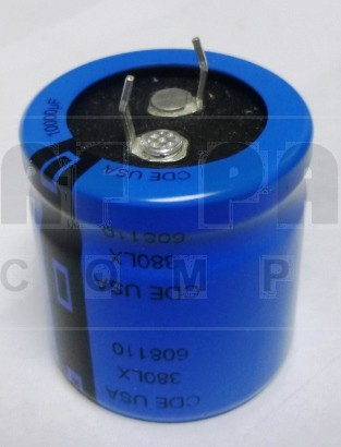 380LX10000 Capacitor, snap lock, 10,000 uf 35 wvdc