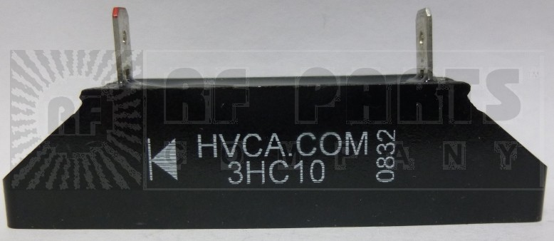 3HC10 HIGH VOLTAGE RECTIFIER BLOCK WITH MOUNTING SLOTS, 2 amp, 10kv-piv