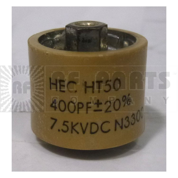 580400-7P Doorknob Capacitor, 400pf 7.5kv 10% (Clean Used)